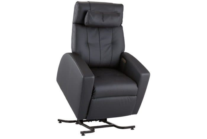 Luma Lift Chair Black 45 Degree Angle | Relax For Life